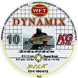 WFT Round Dynamix Pilk yellow 220m, geflochtene Schnur zum Meeresangeln, Angelschnur für Norwegen, Durchmesser/Tragkraft:0.12mm / 10kg Tragkraft