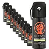 Impower Self Defence Black Pepper Spray for Women and Men - 500 g (Pack of 10)