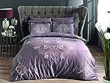 Pierre Cardin Hermes Murdum Luxus Bettwäsche, 6 TLG. 100% Baumwolle aus der Türkey,1 x Matrazenbezug 240 x 260 cm, 1 x Bettbezug 200 x 220 cm, 4 x Kissenbezug 50 x 70 cm