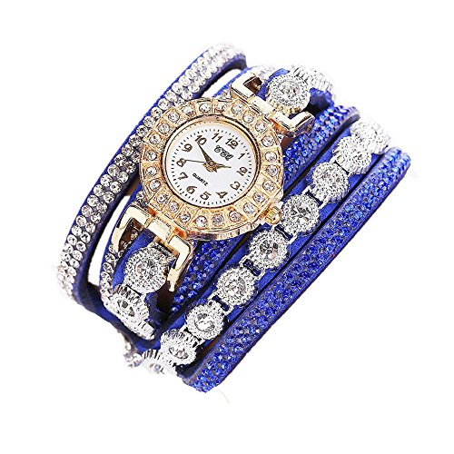 Sunnywill CCQ Damen Schöne Mode Design Strass Armband für Weibliche (Blue)