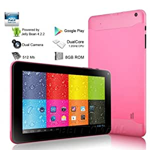 "TONBUX®9 ""Google Android 4.2 allwinner A23 Dual Core capacitif Tablette tactile PC double caméra---Rose"