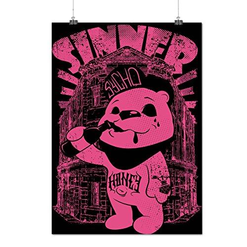 Sünder Teddy Ted Bär Psycho Junge Mattes/Glänzende Plakat A3 (42cm x 30cm) | (Kostüme Bär Ted Teddy)