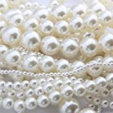 #10: Imported 4mm White Pearl Beads Loose Spacer DIY Jewelry Making Bracelet Necklace