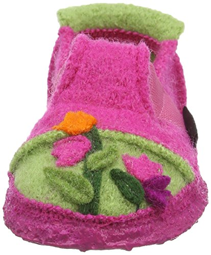 Nanga Flower Garden, Chaussons courts, non doublées fille Rose - Pink (Himbeere 27)