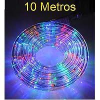 MANGUERA LED LUZ NAVIDAD FIESTA COLORES RGB MULTICOLOR 10 METROS