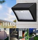 LED Solar Licht, Powered LED Solar Lampe Panel 38LED Motion Sensor IP65 Menschlichen Körper Induktion Außenbeleuchtung