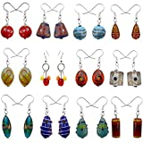#10: Beadworks Muilticolor Glass Combo Of 12 Dangle & Drop Earrings For Girl