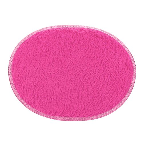 Preisvergleich Produktbild Sonnena 30* 40cm rutschsicheren flauschig Shaggy Bereich Teppich Home Schlafzimmer im Badezimmer Fußmatte hot pink