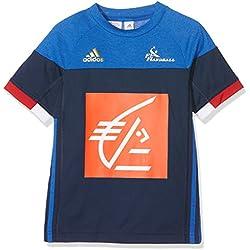 adidas Niños FFHB Francia Réplica Camiseta, conavy/corome, 158, ac4935