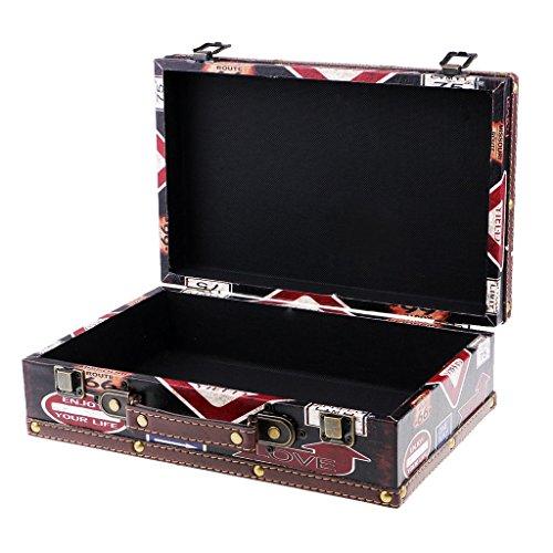 Sharplace cassa di stoccaggio braccialetto collana scatola di gioielli di legno d'annata per fotografia - 11580