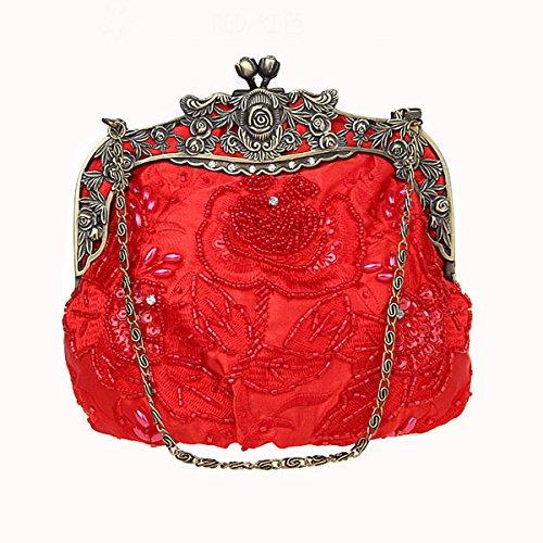 Flada, Poschette giorno donna Rosa Wine Red medium Red