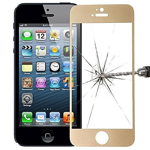 Often™ Film protection iPhone 5/5S/5C, Protecteur en verre trempé coloré