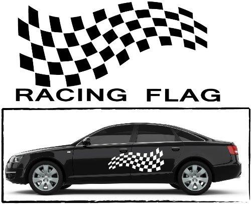 DD Dotzler Design – Rennflagge Racing Flag – 1606_22 – Autoaufkleber Car Tribal, Schwarz