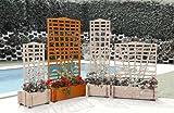 Blumenkasten mit Spalier,Mirabell, 100x180 cm, ho