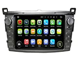 8 Zoll Doppel Din Android 5.1.1 Lollipop OS Autoradio für Toyota RAV4 2013 2014 2015, DAB+ radio kapazitiver Touchscreen mit Quad Core 1.6G Cortex A9 CPU 16G Flash und 1G DDR3 RAM GPS Navi Radio DVD Player 3G/WIFI Aux Input OBD2 USB DVR