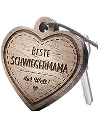 """Schlüsselanhänger aus Holz mit Gravur """"Beste Schwiegermama"""""""
