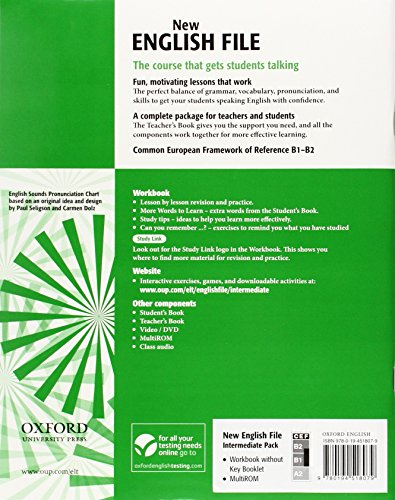 New English File Intermediate: Workbook with Multi-ROM Pack: Workbook with MultiROM Pack Intermediate level (New English File Second Edition)