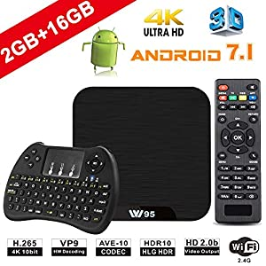 web barato: TV Box Android 7.1 - VIDEN W2 Smart TV Box Amlogic Quad Core, 2GB RAM & 16GB ROM...