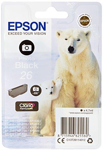 Epson Original T2611 Tintenpatrone Eisbär, Singlepack Foto schwarz