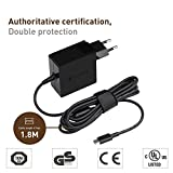 [TUV GS Certifié] TAIFU 45W USB-C Alimentation AC Adaptateur Secteur Chargeur Portable pour MacBook Pro (2015/2016), Macbook Pro 13 (2017) Nintendo Switch, Razer Blade Stealth,Google Chromebook Pixel, Lenovo ThinkPad X1 X270 E480, HuaWei Mate 10, Mate Book, Dell Venue 8 Pro, 10 Pro