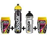 Isostar Hydrate & Perform 2x400g bebida electrolítica isotónica + botella de 1000 ml + botella de 500 ml - solución de electrolitos para apoyar el rendimiento deportivo