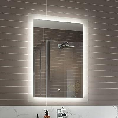 500 x 700 mm Illuminated LED Bathroom Mirror Vanity Light Sensor + Demister ML7000 - cheap UK light store.