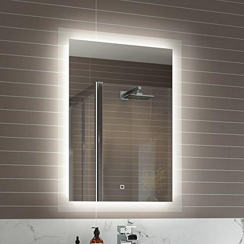 iBathUK 500 x 700 mm Illuminated LED Bathroom Mirror Vanity Light Sensor   Demister ML7000