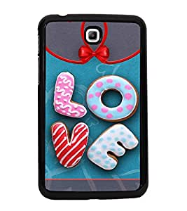 ifasho Designer Back Case Cover for Samsung Galaxy Tab 3 (7.0 Inches) P3200 T210 T211 T215 LTE (Donuts Cakes Heart Shape )