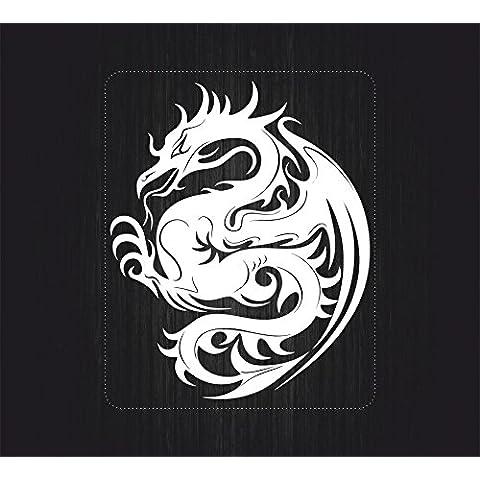 Adhesivo decorativo Macbook Laptop coche moto Dragon chino Deco vinilo blanco