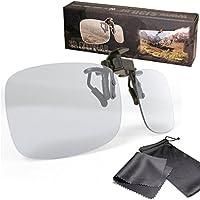 Lunettes 3D clip VERSION 2 - Haute qualité - Pour les porteurs de lunettes - Polarisées passives - Pour le cinéma et télévision 3D compatible - Par exemple RealD 3D cinema ou téléviseurs Cinema 3D de LG ou Easy 3D de Philips