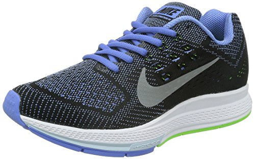 Nike W Air Zoom Structure 18, sneaker femme Bleu - Blau (Polar/mtllc silver-flsh lm-blk 402)