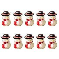 Wansan 10 pcs Miniature Christmas Snowman Decoration Micro Landscape Ornament DIY for Outdoor Garden Home Plant Decor
