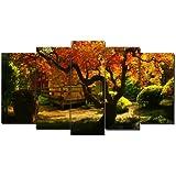 DekoArte 95 - Cuadro moderno, Paisaje Jardín Japonés, 150 x 80 cm