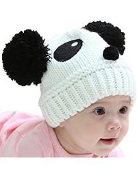 Housweety 1 Weiss Hut Panda Baby Kinder Muetze/Muetzchen 21x17cm E00262