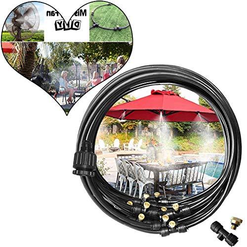 AMhomely®2019 Neu!Bewässerungssystem Outdoor Misting System Einstellbar Wasser Cooling Sprinkler-System mit Fein vernebeltes Wasser für Treibhaus Gärten, Schwimmbad, Laube (10M) -