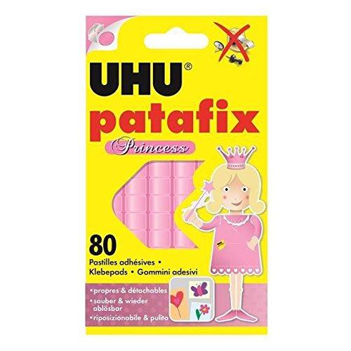 Preisvergleich Produktbild 'UHU Paket 80Tabletten abnehmbaren Klebestreifen Patafix Prinzessin Pink