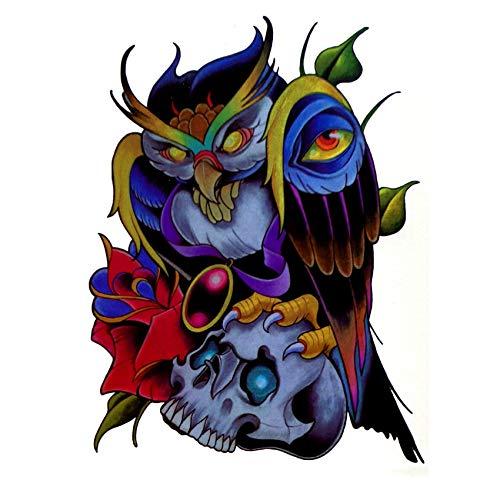 LBBMBC 5er Pack Devil Owl Magician Wasserdichter Tattoo Aufkleber Herren Imitation T-Shirt Flash Tattoo Aufkleber