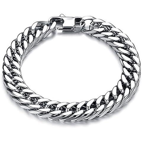 ZWX Versione coreana di bracciale da uomo moda acciaio al titanio/ Gioielli personalizzati braccialetto-D