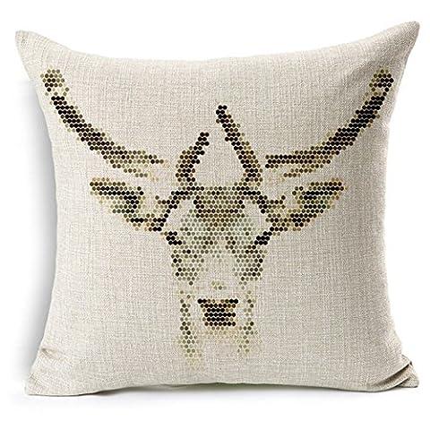 JeremyArtStore 18 x 18 Inches Decorative Cotton Linen Square Throw