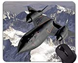 Yanteng Mouse Pad Migliore Idea Regalo, Jet da Combattimento supersonico. Tappetino Antiscivolo con Base in Gomma