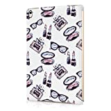 Parfumes Best Deals - Cute Glasses Lipstick Parfume Girl Stuff Pattern Durable Hard Plastic Snap-On Plastic Tablet Case Cover For iPad Pro 9.7