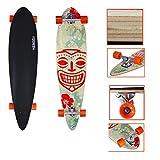 VINGO® 41' Skate Board 104cm Street Cruiser ABEC9 Freeride Longboard 9-Lagen-Ahornholz High Speed Kugellager freeriding