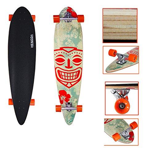 "VINGO® 44"" Skate Board cruising 112cm Komplettboard Downhilling Kugellager ABEC 7 Longboard 9-Lagen-Ahornholz Rollen 63x50mm"