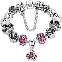 Europäischen Charme-Armband#1, The Rose Armband charms-r-us.com