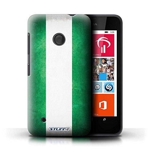 Kobalt® Imprimé Etui / Coque pour Nokia Lumia 530 / Suède/suèdois conception / Série Drapeau Nigeria