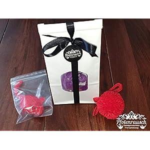 Filzmaus mit Baldrian und Pompom – Geschenkpaket