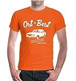 T-Shirt Ost-Best! Kultig nicht giftig-M-Orange-White