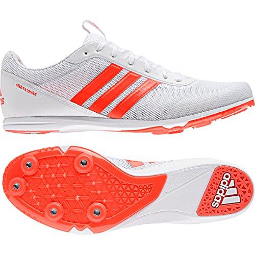 brand new 8eb07 11c39 Adidas DISTANCESTAR SPIKES, Scarpe chiodate da uomo,  WhiteSolarRedSolarRed, ...