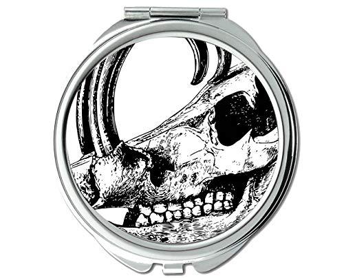 Yanteng Spiegel, reisespiegel, Kopf säugetier Skelett schädel, taschenspiegel, 1 X 69X Vergrößerung