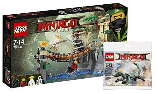 Lego Ninjago 70608–Meister WU 's Agua de caso + Lego 30428verde Ninja Mech Dragón Ninjago Movie Bolsa, entretenimiento juguete